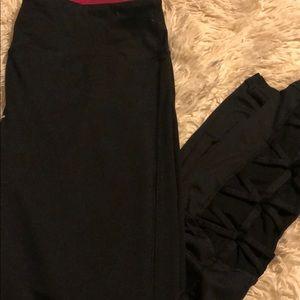 Black ankle workout leggings